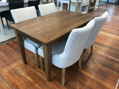 5 Piece Orleans Setting Table & Dining Chairs USA Oak