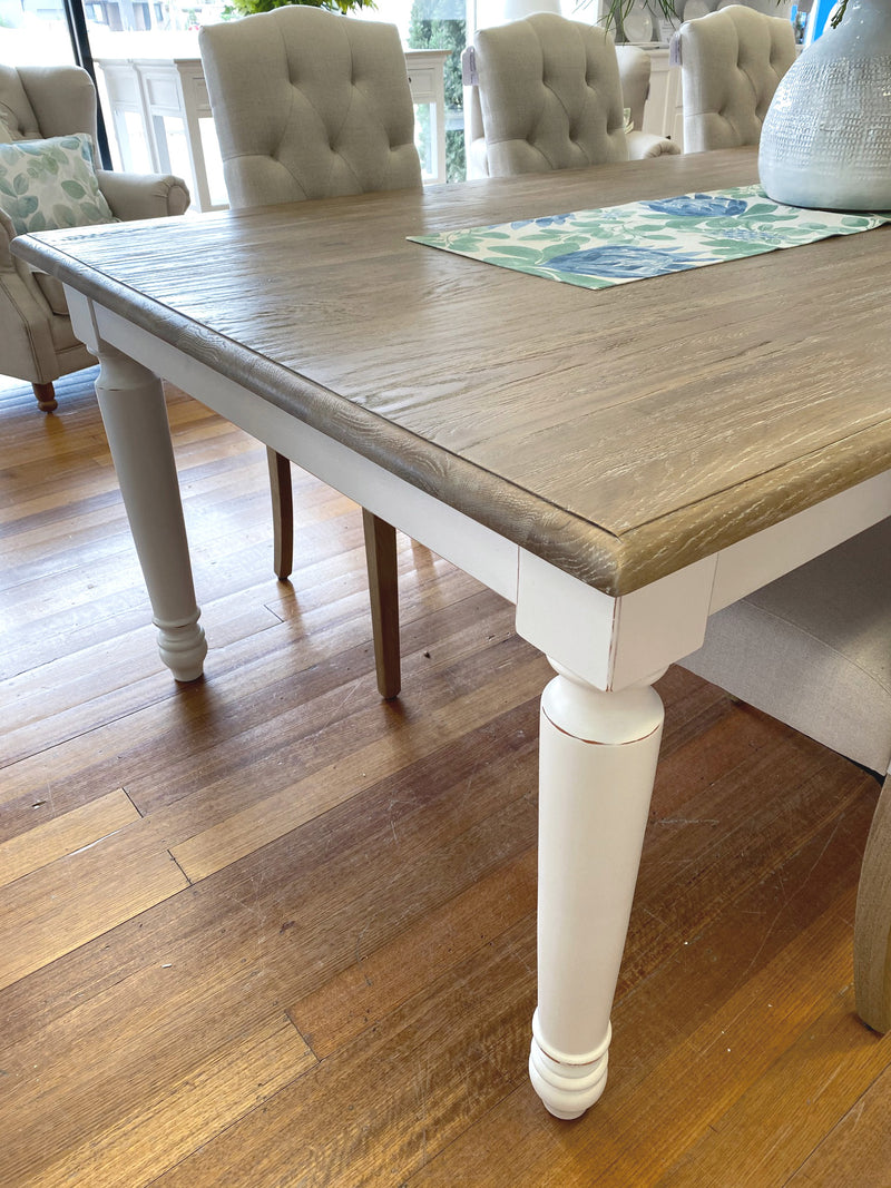 Brittany Dining Table 200x100cm White Wash Oak