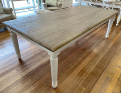 Brittany Dining Table 240x120cm White Wash Oak