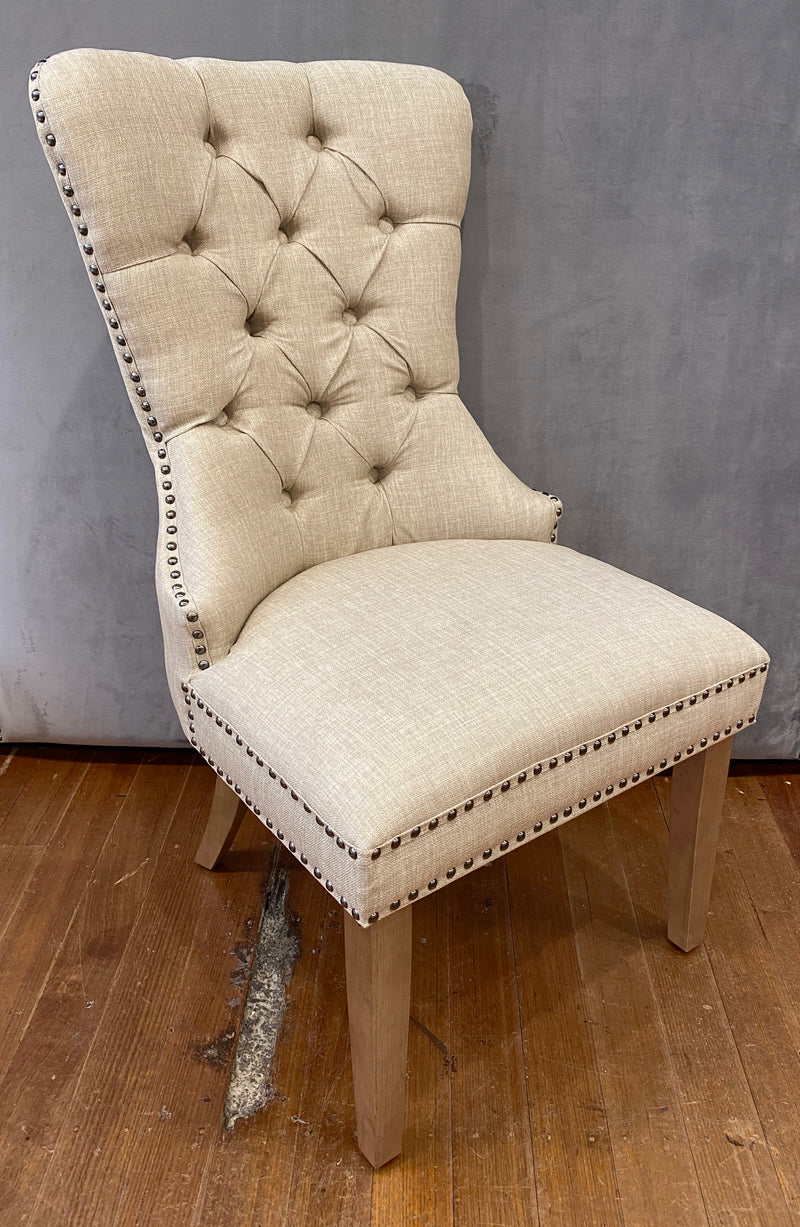 Dining Chair Cross Back Birch Hardwood - White