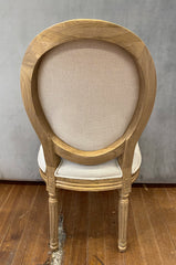 Louis Dining Chair Linen French Provincial Hardwood Oak