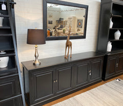 Black Entertainment TV Unit / buffet Large 200cms