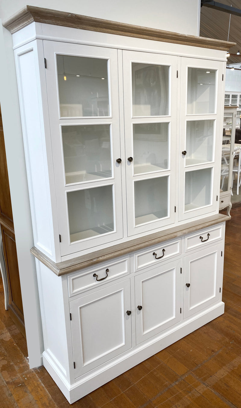 Pre-order: Hunter Buffet & Hutch 3 Door White