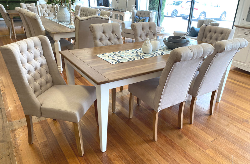 7 Piece Oak Dining Table & Chairs Package 180x90cm
