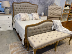 Chateau Full King Size Bed USA Oak Linen