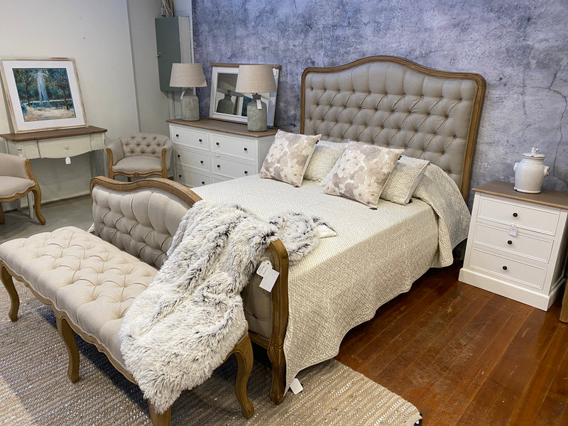 Chateau Full Queen Size Bed USA Oak Linen