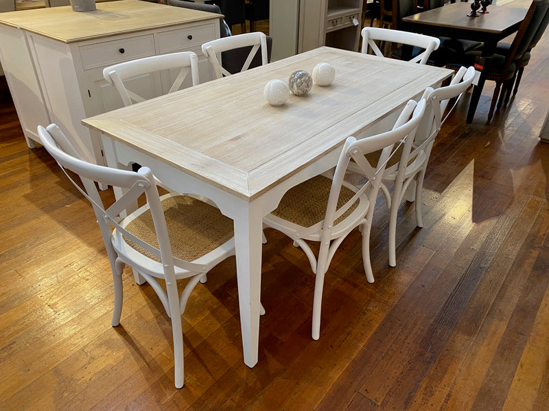 7 Piece Chandon Dining Setting 160x80cm - Floor stock