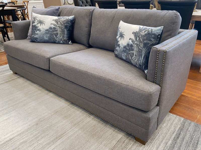 Marsielle 3 Seater Sofa Linen Oak Hardwood Lounge
