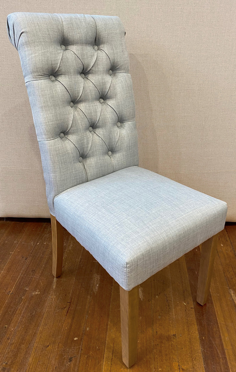 Limoges Dining Chair Roll Back - Blue