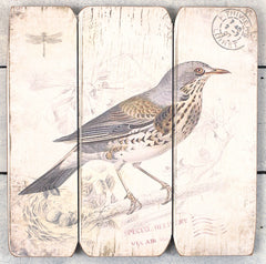 Wall Art Wooden Sign Bird French Provincial Script 35cms