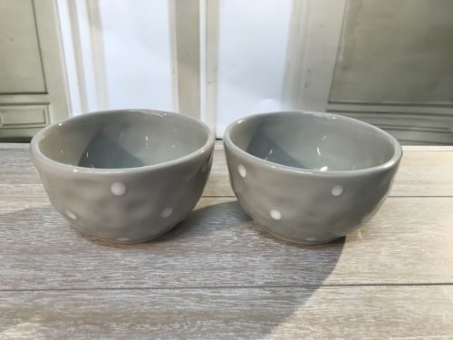 2 x Ceramic Bowls Grey Dot Serveware Kitchen Bowls Homewares Home Decor