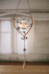 Rustic Hanging Wooden Heart Hannger Home Decor 20cms BRAND NEW Large White