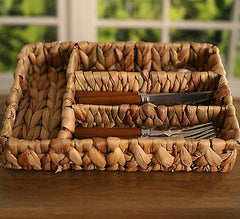 Woven Cutlery Tray Kitchen Picnic Home Decor Organisation BRAND NEW