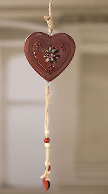 Heart Red Rustic Hanging Home Decor Hanger Homewares Gift 45cms BRAND NEW