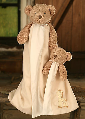 Kids 'Blankie' Rug with Bear and Baby Bear 50x70cms Cream Soft Touch Gift NEW