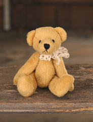 Teddy Bear 'Buttercup' Handmade Settler Bears Gift Mini Bear 12cms BRAND NEW