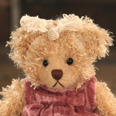 Teddy Bear 'Nellie' Settler Bears Handmade Red Dress Gift 20cms BRAND NEW