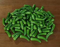 100 x Chilis Green Fake Fruit Vegetables Faux Food Home Decor Kitchen 6cms