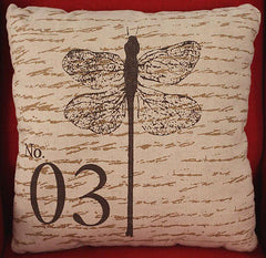 Linen 'Dragonfly' Decorator Cushion Covers - Square or Lumbar Natural Tones