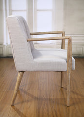 Dining Chair Carver Linen Oak Scandinavian Bedroom Furniture Hardwood Brand New