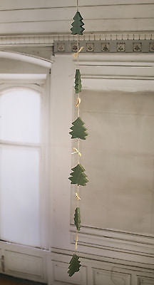 Christmas Ornament Santa Festive Hanging Tree Decoration Heart Twig Rustic 50cms