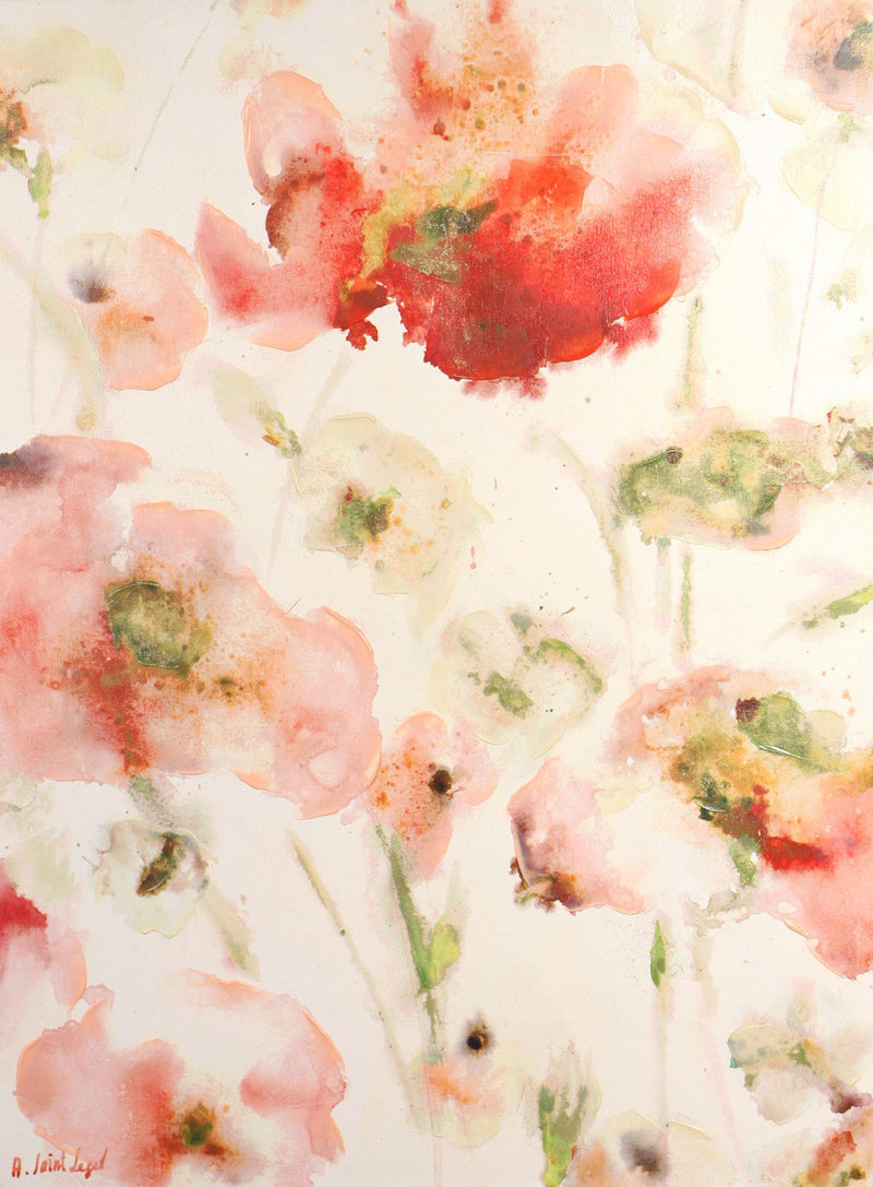 Giclee Canvas Agnes Saint Leger 'Watercolour Beauty' 100x75cms