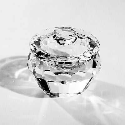 Rounded Crystal Jewellery Box 9.5cms Trinket Box Home Decor Gift NEW Large