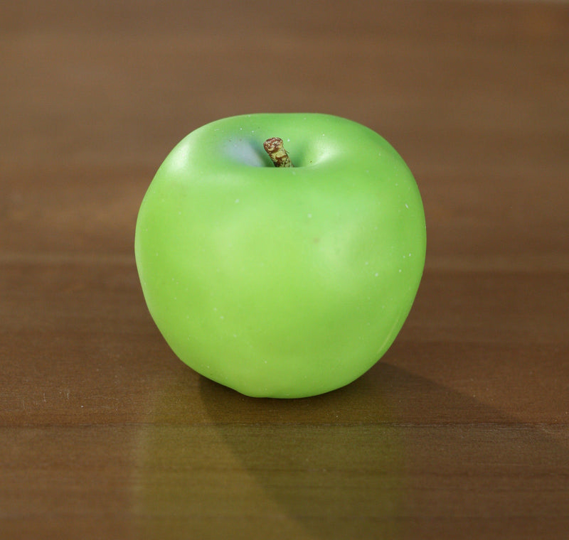 4 x Artificial Green Apples Fake Fruit 8cms