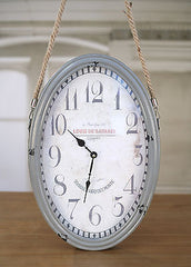 Clock Provincial Rustic Home Decor Homewares Gift 'Louis' 50cms BRAND NEW