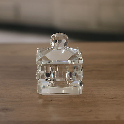 Crystal Square Jewellery Trinket Box 8cms