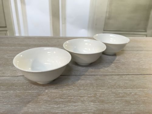 3 x Ceramic Condiment Dishes White Sauce Bowls Decor Bowls Serveware 9cms NEW