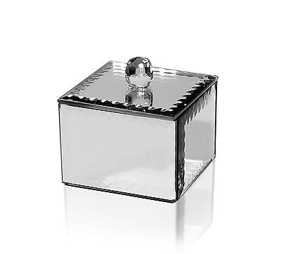 Mirrored Glass with Scalloped Edge Jewellery Box 7cms