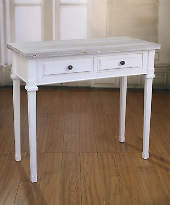 Sofa Table Antique White French Provincial Desk
