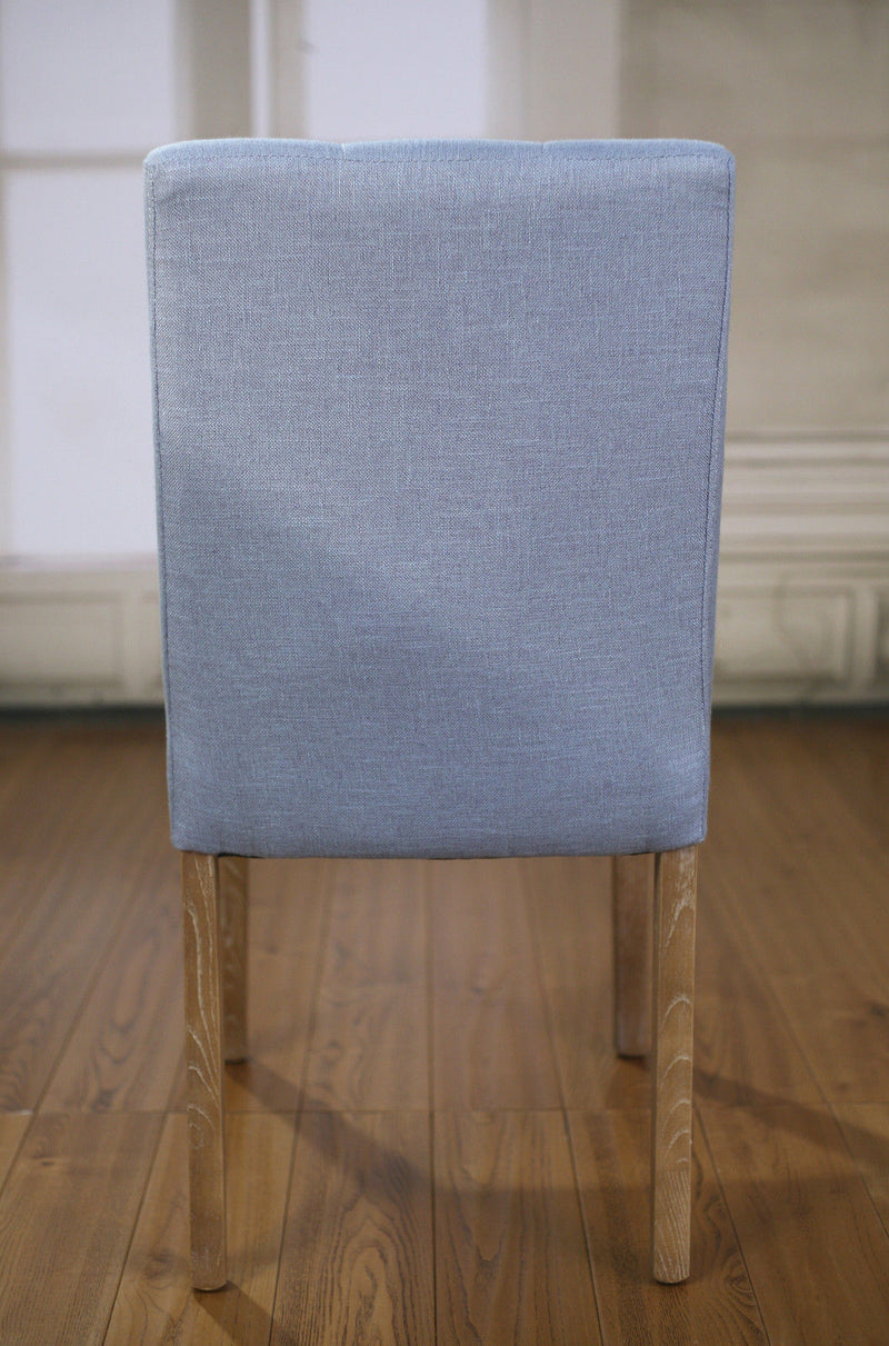 Chartres Dining Chair Blue Linen French Provincial Oak