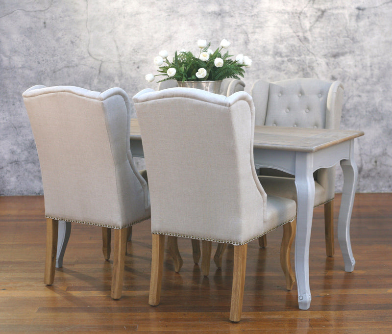 Setting 5 Piece 160x80 Dining Table USA Oak Chairs Package