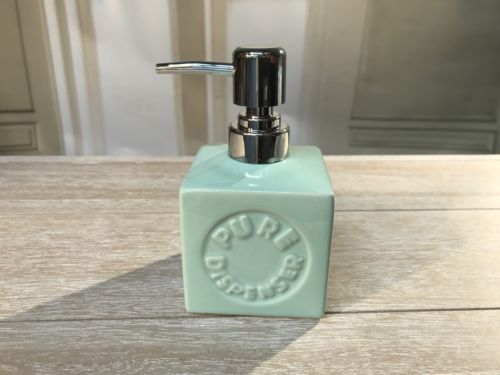 Soap Pump Dispenser Ceramic French Provincial Green Savon Bathroom Homewares New