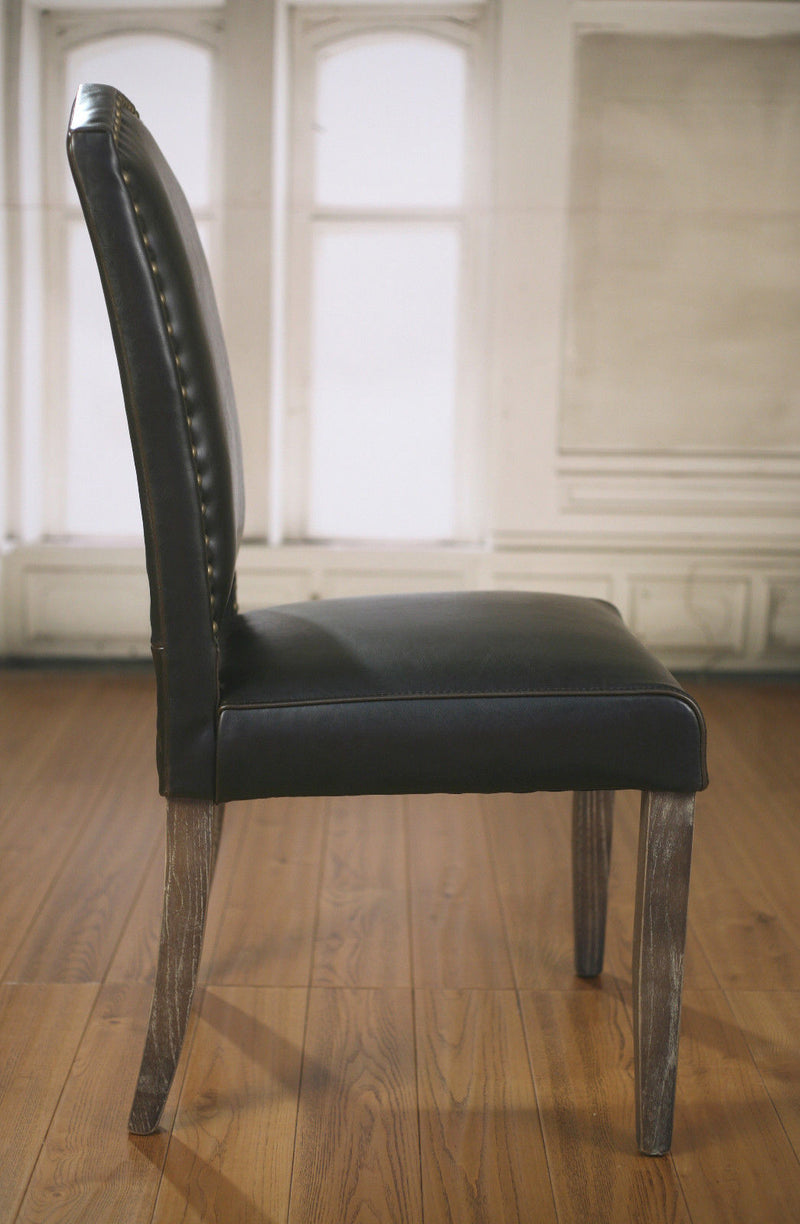 Nouvelle Dining Chair Antiqued Leather Oak