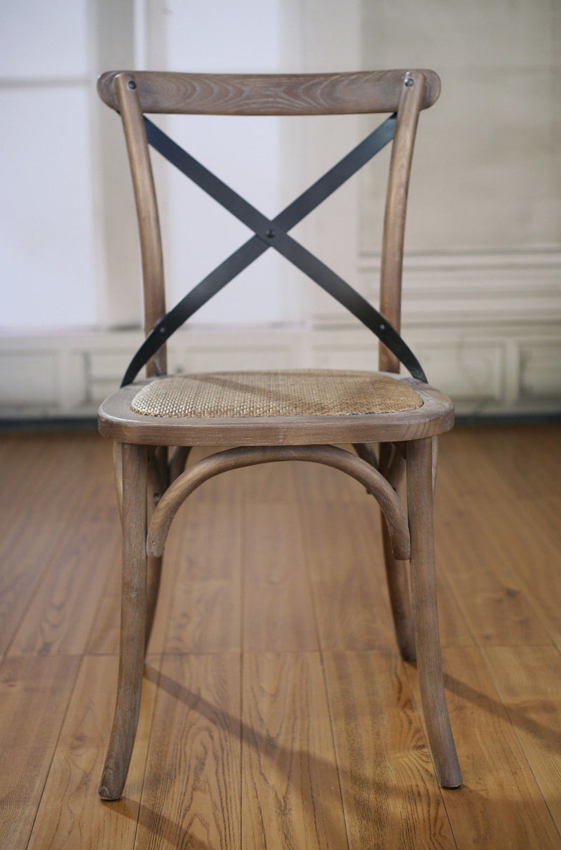 Charmont Dining Chair Oak Burned Wash Cross Back