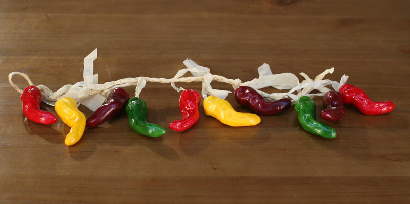 2 x Artificial Chili Strands Fake Fruit Vegetables Faux Food Home Decor 55cms