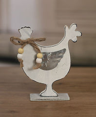 Country Style Wooden Chook Home Decor Country Style 14cms BRAND NEW