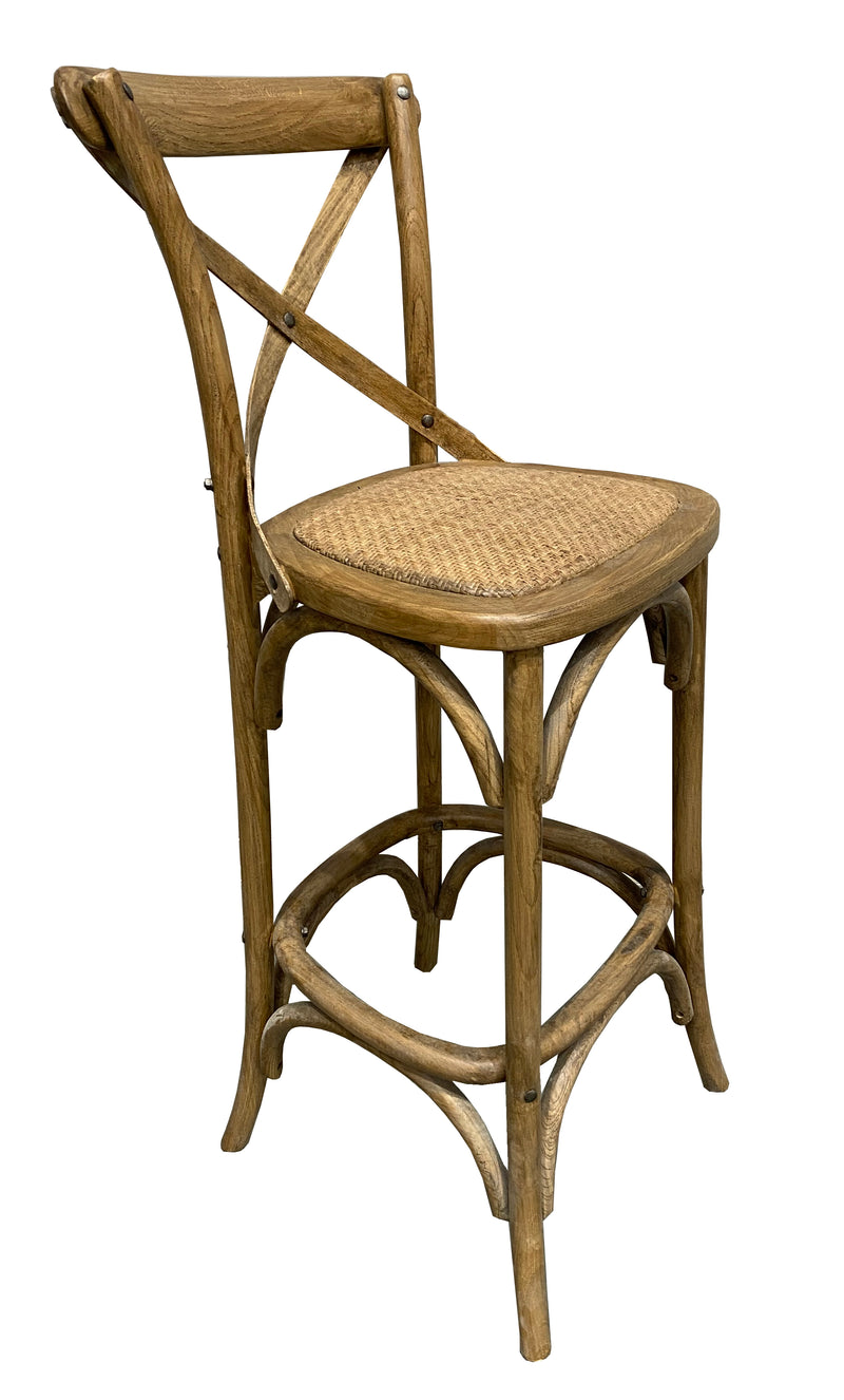 Charmont Counter Stool Oak Cross Back