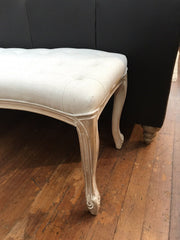Stool Ottoman Cream Upholstery End of Bed 120cms