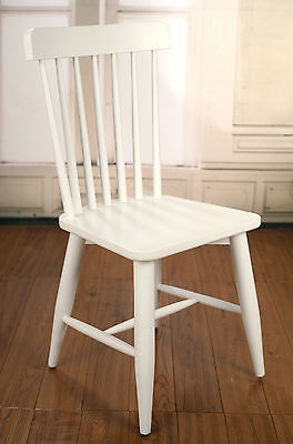 Dining Chair Cross Back French Provincial Birch Antique White Chair Cafe Seat