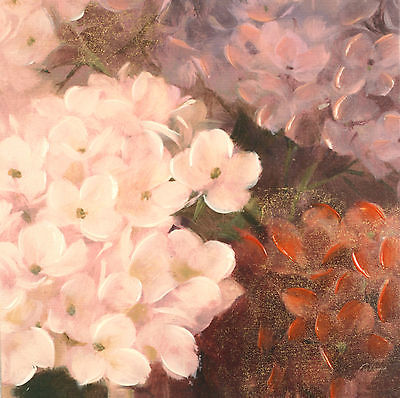 Fabrice de Villeneuve 'Flowers of Different Kinds' Giclee Canvas 40x40cms