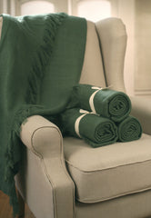 Throw Rug Soft Touch Throw Blanket Decorative Bedding Blanket 127x150cms - GREEN