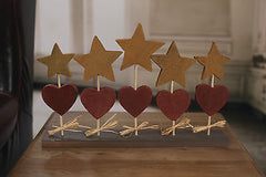 Stars and Hearts on Base Christmas Festive Home Decor 40cms BRAND NEW