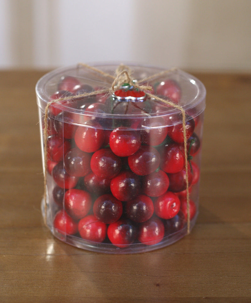 2 x Artificial Cherries Tubs Fake Fruit Faux Food Home Decor Kitchen Party