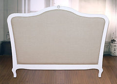 Queen Size Bed Head Roll Back Upholstered