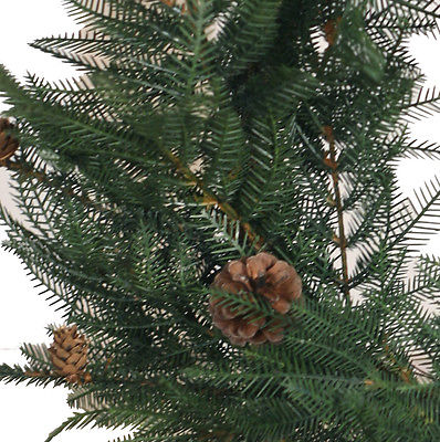 Christmas Door Wreath Garland Fern Pine Cones Christmas 60cm