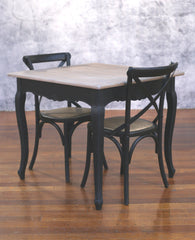 Setting 3 PIECE 90x90 Dining Table Cross Back Chairs Package